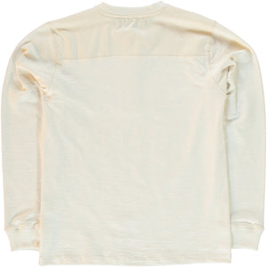 "Eat Dust ""T-Henley"" L/S Jersey Shirt - Off-White"