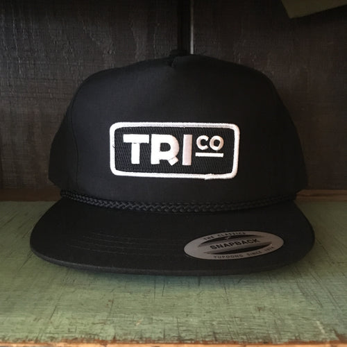 TRIco Block Logo Canvas Trucker Hat - Black