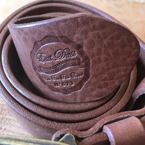 Eat Dust Belt and Key Fob - Brown
