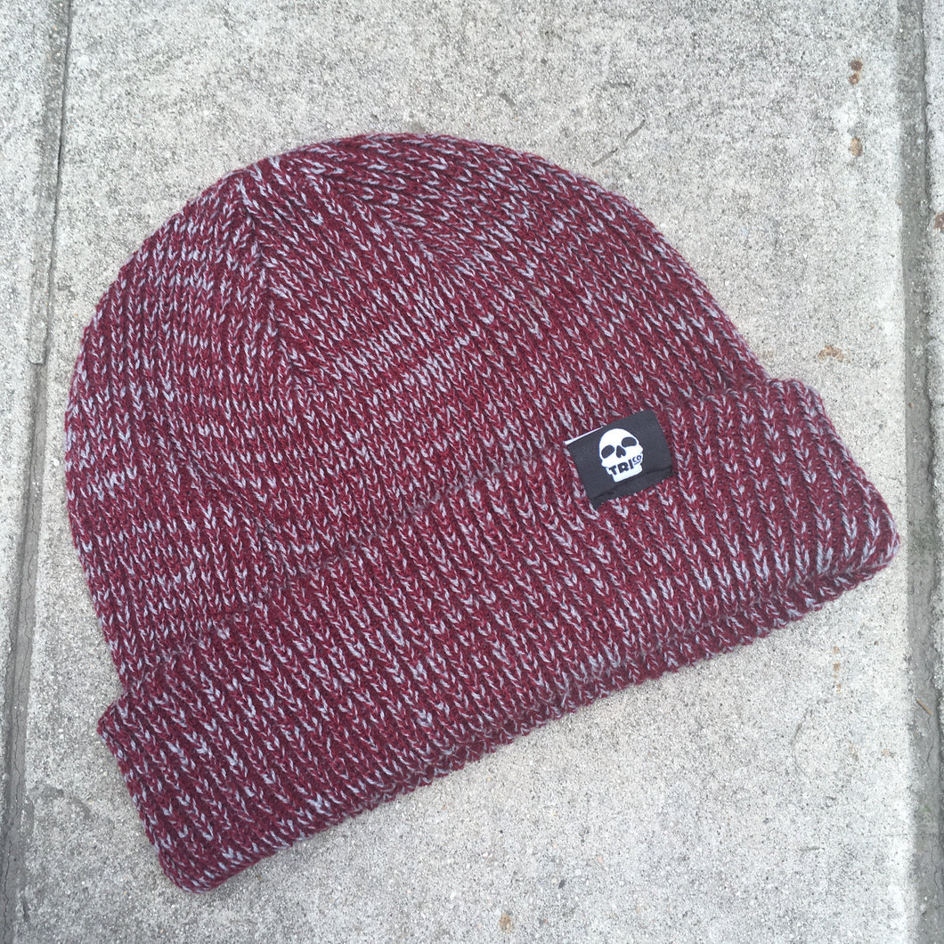 TRIco Beanie Marbled Red