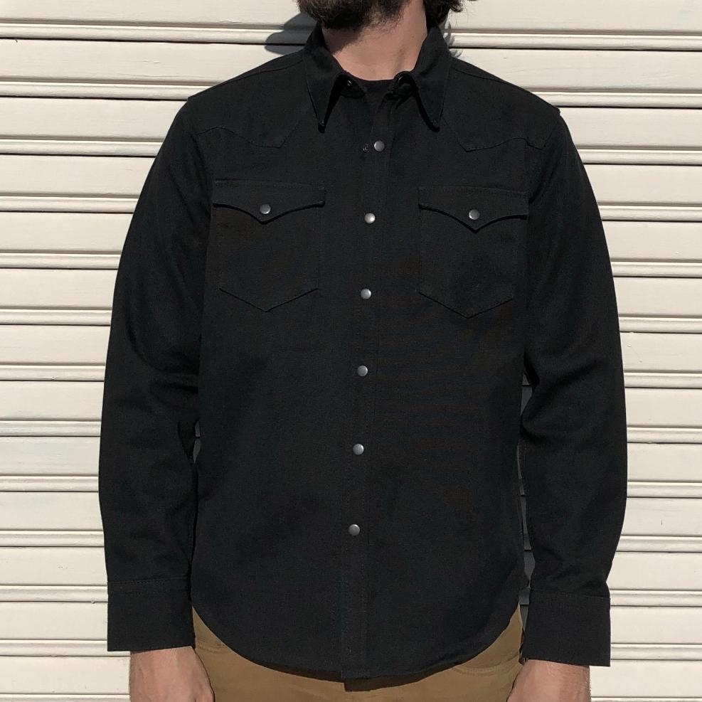 Canvas Western Shirt - Black