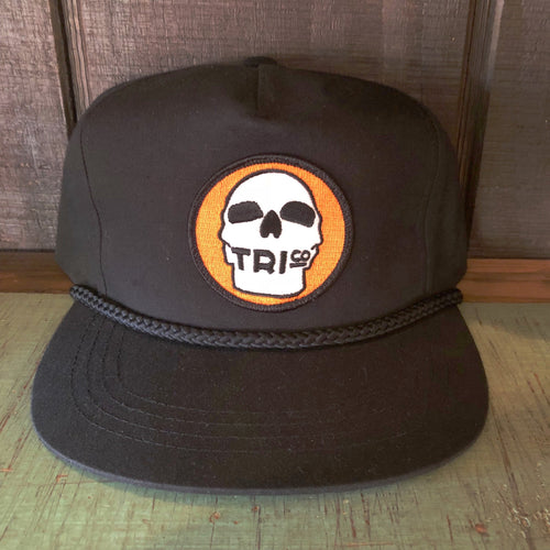 TRIco Skull Logo Canvas Trucker Hat - Black