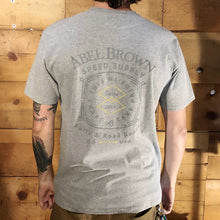 Abel Brown Stamp T-Shirt - Grey