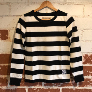 Girls of Dust Long Sleeve Striped Shirt - Black/White