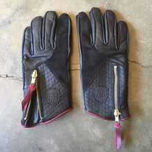"Abel Brown ""Prism"" Riding Gloves - Black"