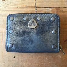 Heavy Leather NYC Aged Silver Wallet