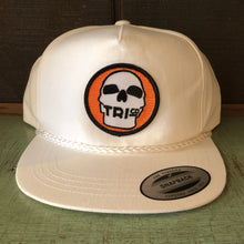 TRIco Skull Logo Canvas Trucker Hat - White