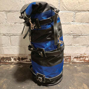 Mad Squirrel Sissy Bar Bag - Black & Blue/Black