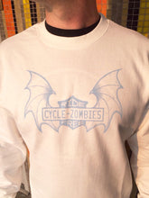 Cycle Zombies Ride Free Batwing Long Sleeve Sweatshirt - Off White