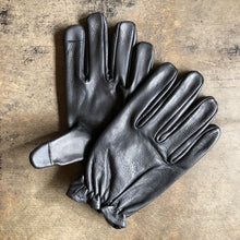 Classic Leather Riding Gloves - Black