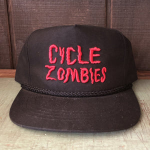 Cycle Zombies Spooky Vibes Hat - Black