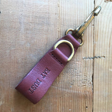 Eat Dust Leather Key Fob - Ox Blood