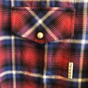 Girls of Dust Western Plaid Check L/S Shirt
