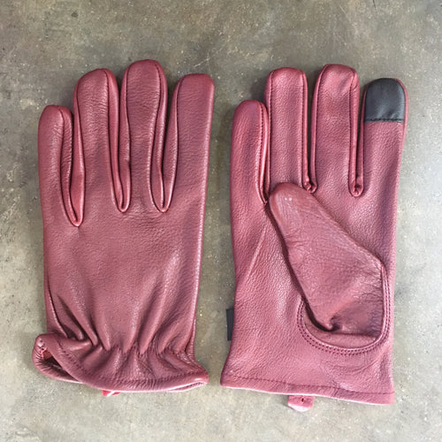 Classic Leather Riding Gloves - Ox Blood