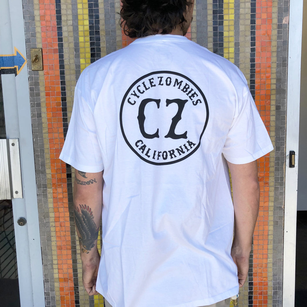 Cycle Zombies California Seal Logo T-Shirt - White