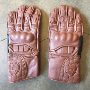 "Abel Brown ""X2"" Gauntlet Gloves - Brown"