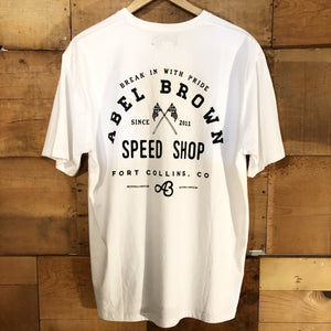 Abel Brown Rally T-Shirt - White