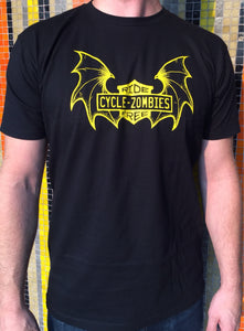 Cycle Zombies Ride Free Batwing Black T-Shirt