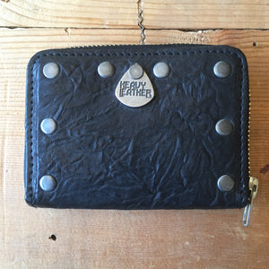 Heavy Leather NYC Black Zip-Around Wallet