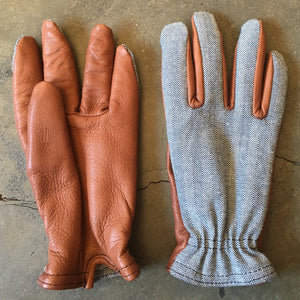 "Grifter Wool-Lined ""Herringbone Ranger"" Riding Gloves"