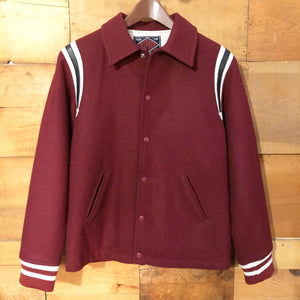 THE CUTRATE Letterman Jacket - Burgundy