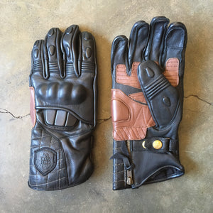 "Abel Brown ""X2"" Gauntlet Gloves - Black"
