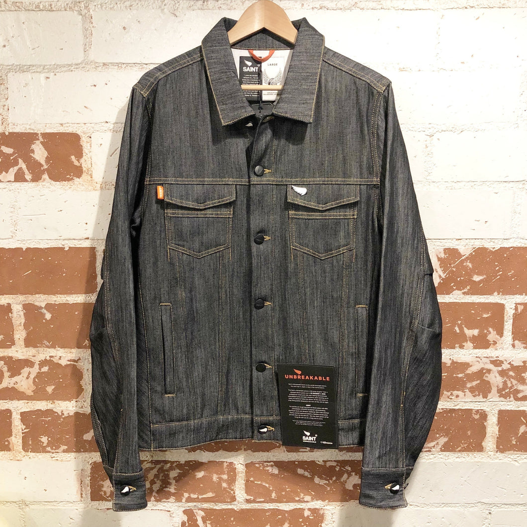 Saint Unbreakable Motorcycle Denim Jacket - Indigo
