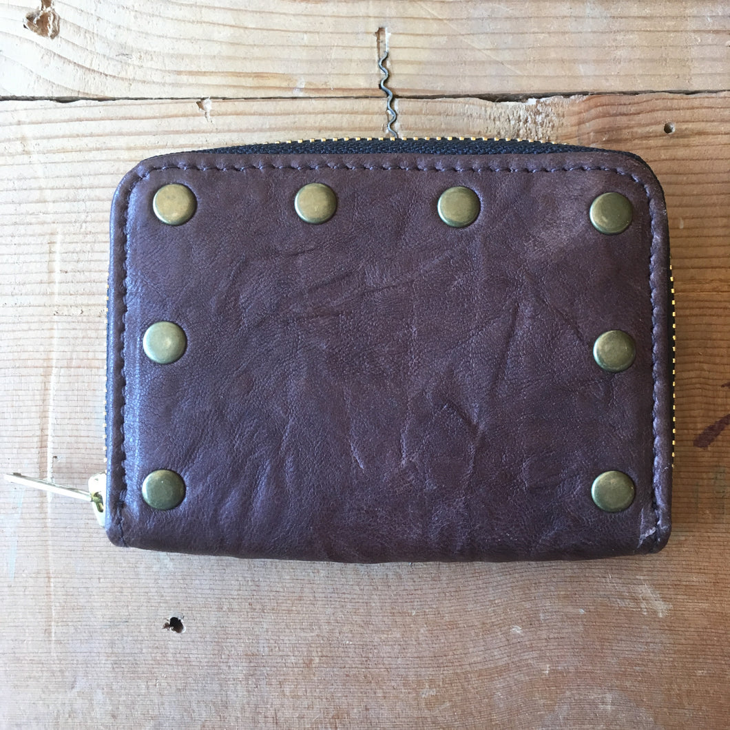 Heavy Leather NYC Coffee Zip-Around Wallet