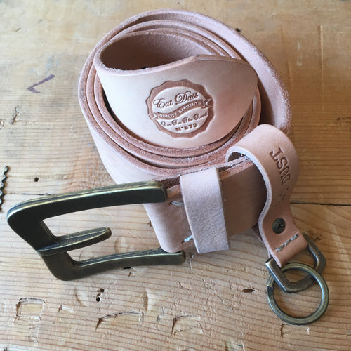 Eat Dust Belt and Key Fob - Natural