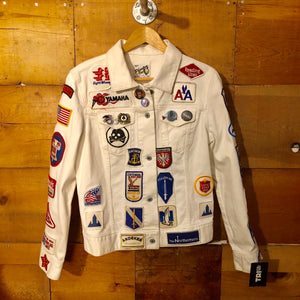 "Phantom Vee Classic Patched Tour Jacket - ""White Lightning"""