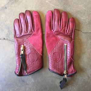 "Abel Brown ""Prism"" Riding Gloves - OxBlood"