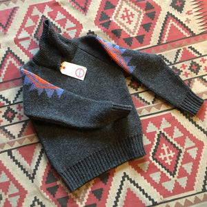 Eat Dust Eagle Shetland Cardigan - Anthracite