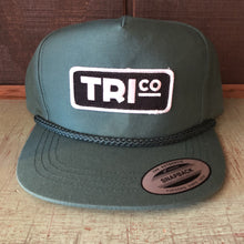 TRIco Block Logo Canvas Trucker Hat - Green