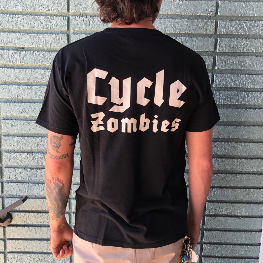 Cycle Zombies Letter Logo - Black