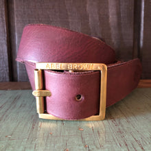 Abel Brown Double-Back Belt Oxblood