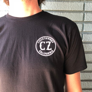 Cycle Zombies California Seal Logo T-Shirt - Black