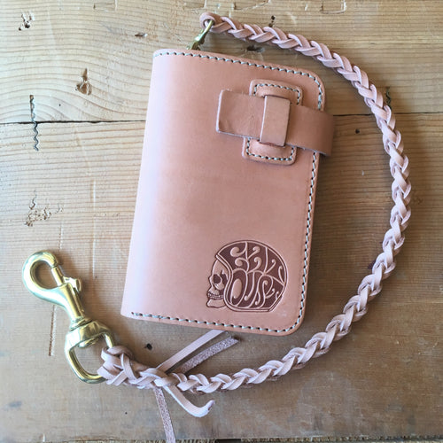 Eat Dust Trucker Wallet w/Detachable Leather Lanyard - Natural
