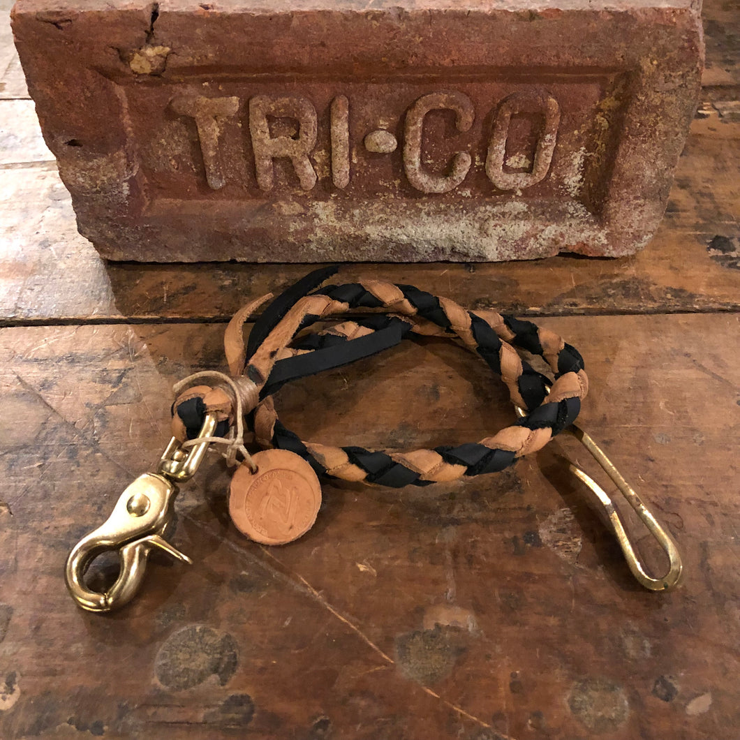 TRIco Wallet Lanyard - Black/Natural Leather