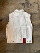 Eat Dust 736 Denim Vest - Off White