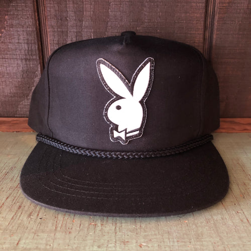 Playboy Canvas Trucker Hat - Black