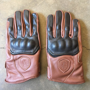 "Abel Brown ""Raceway"" Riding Gloves - Black/Brown"
