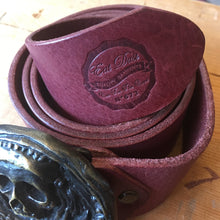 Eat Dust Ox Blood Belt and Skull Belt Buckle
