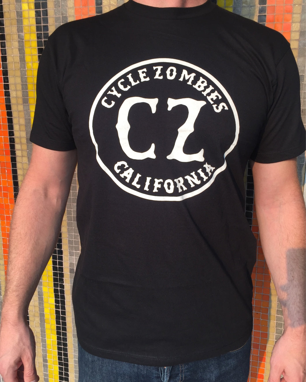 Cycle Zombies California Seal Front Logo T-Shirt - Black