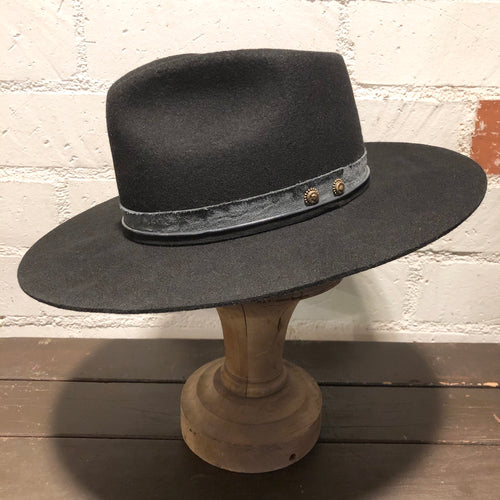 Karmativity Design Wide-Brim Hat - Black w/Grey Band (Size L)