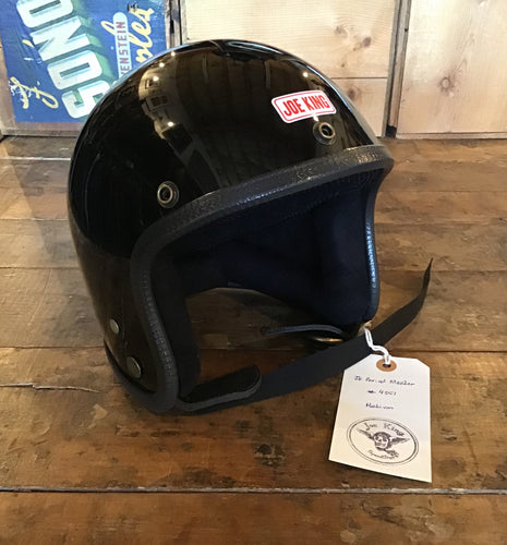 Joe King Helmet Period Master Black + Black interior Medium