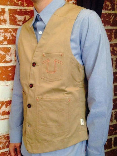 Eat Dust Worker Vest - Tan