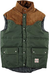 "Eat Dust ""Montana"" Forest Green Down Vest"