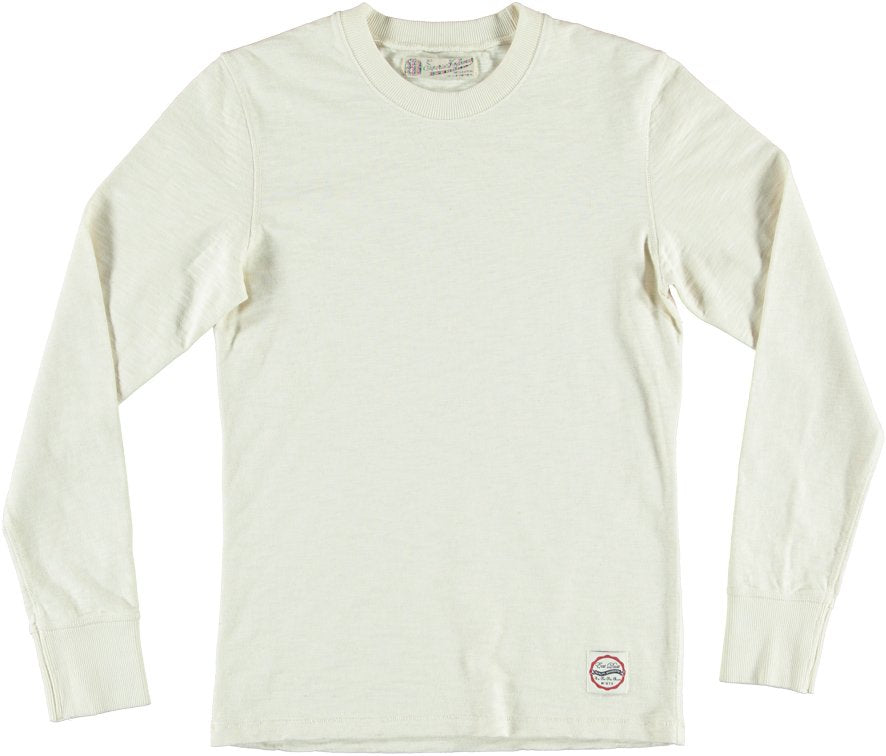 Eat Dust Club Jersey Off White L/S Shirt