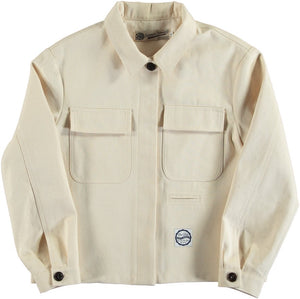 Girls of Dust Bull Denim Worker Jacket - Off-White