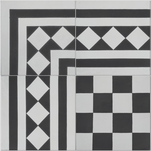 Chequer Pattern Tile (Box of 12)